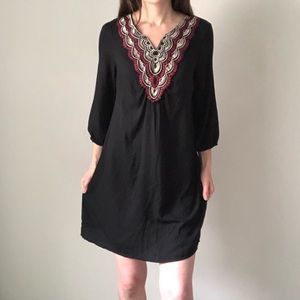 Lily Rose Tribal print neckline shift dress XL